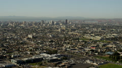 Aerial view of Long Beach California Stock Footage