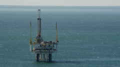 Aerial view of an oil rig offshore Los Angeles USA Stock Footage