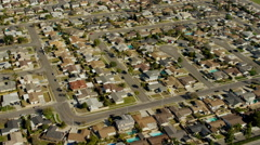 Aerial view of suburban areas of Los Angeles USA Arkistovideo