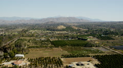 Aerial view of farming areas Los Angeles USA Stock Footage
