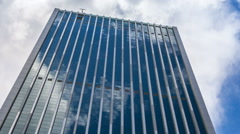 Corporate Buildings, Blue Sky and Clouds - stock footage