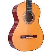 Body acoustic guitar with strings, close view - stock illustration