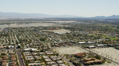 Aerial view of Palm Springs California US Stock Footage