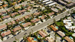 Aerial view of oasis city of Palm Springs USA Stock Footage