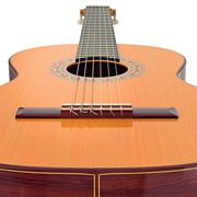 Bridge wooden acoustic guitar, close view - stock illustration