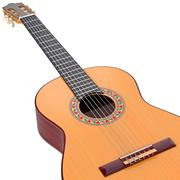 Classical guitar fingerboard with frets, zoomed view Stock Illustration