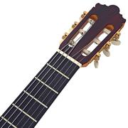 Headstock guitar with tuning-pegs, close view - stock illustration