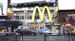 McDonald's Restaurant in Times Square New York Stock Video - stock footage