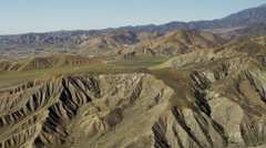 Aerial view of the San Andreas fault California USA Stock Footage