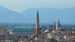 Vicenza - Panoramic view from above in summer - stock footage