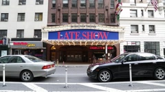 Exterior Ed Sullivan Theater in Manhattan New York Stock Video Stock Footage