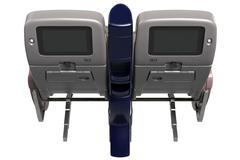 Passenger seats with screen Stock Illustration