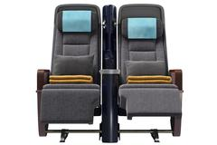 Aircraft chairs, front view - stock illustration