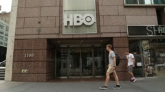 Exterior HBO Headquarters in Manhattan New York City Stock Video Stock Footage
