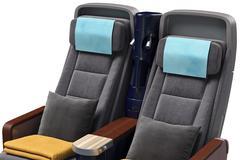 Airplane passenger seats, close view Stock Illustration