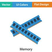 Computer memory icon Stock Illustration