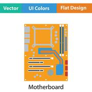 Motherboard icon - stock illustration