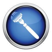 Safety razor icon - stock illustration
