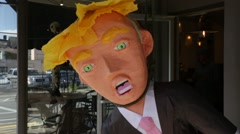 Donald Trump Effigy on Display in New York Stock Video Stock Footage