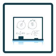 Icon of Classroom blackboard Stock Illustration