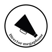 Director megaphone icon - stock illustration