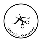 Ceremony ribbon cut icon Stock Illustration