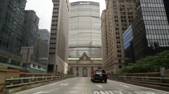 Empty Scene of Exterior Grand Central Station in New York City Stock Video Stock Footage