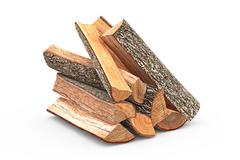 Firewood stack chopped - stock illustration