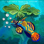 Colorful Aquarium Fish Stock Illustration