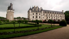 Chateau de Chenonceau in the Loire Valley, France. Stock Footage