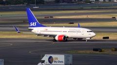 Scandinavian Airlines jet plane departs Arkistovideo