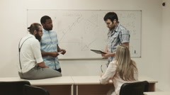 Business training in classroom - stock footage