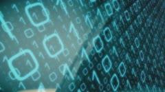 Computer binary virus concept - stock footage