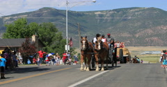 4th July Parade horse carriage rural town DCI 4K Stock Footage