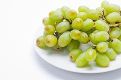 A Bundle of Wet Grapes Stock Photos