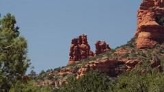 Red Rocks at Page Springs Desert, Arizona, USA Stock Footage