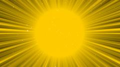 cartoon sun rays - stock footage