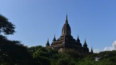 Ananda temple bagan,myanmar Stock Footage
