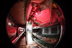 BALTIMORE, USA - JUNE 21 2016 - inside TORSK inside ii world war submarine vi Stock Photos