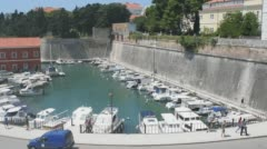 The Land Gate in Zadar, Croatia Stock Footage