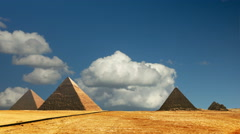 Egypt panorama pyramid with high resolution Cairo Stock Footage