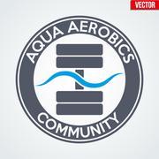 Symbol of Aqua Aerobics - stock illustration