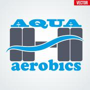 Symbol of Aqua Aerobics - stock illustration
