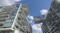 Modern condominiums in Toronto, Ontario, Canada. Stock Footage