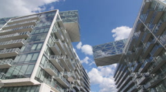 Time lapse of modern condominiums in Toronto, Ontario, Canada. Stock Footage