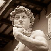 The statue of David by italian artist Michelangelo - stock photo