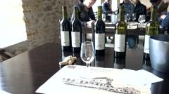 Wine testing proceeding Stock Footage