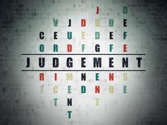Law concept: Judgement in Crossword Puzzle Stock Illustration