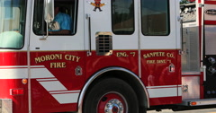 4th July Parade Moroni City Fire Truck DCI 4K Stock Footage