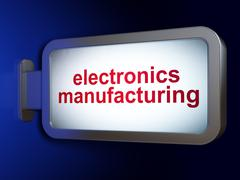 Manufacuring concept: Electronics Manufacturing on billboard background Stock Illustration